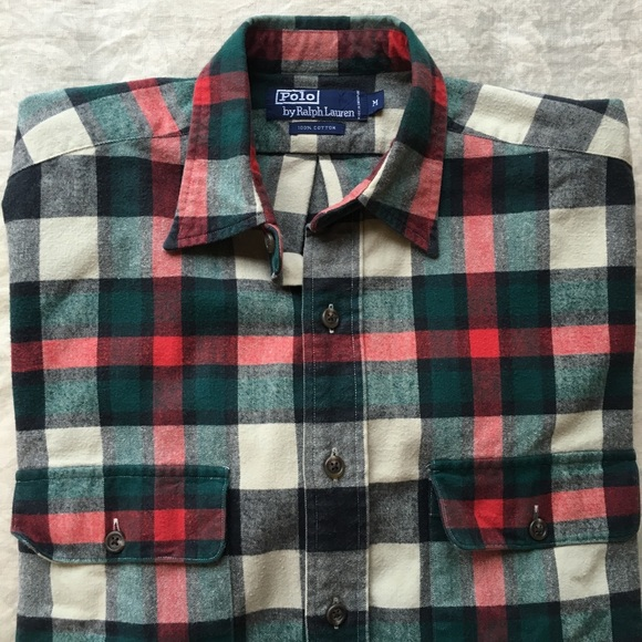 da30bf4f3 Men s Polo Heavy Weight Flannel Plaid Button Down.  M 5bc3743674359b92960bee85. Other Shirts you may like. Ralph Lauren ...